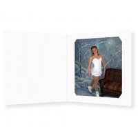 57/46 White Cut Corner Photo Folders
