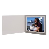7x5 Horizontal Basic Gray Photo Folders