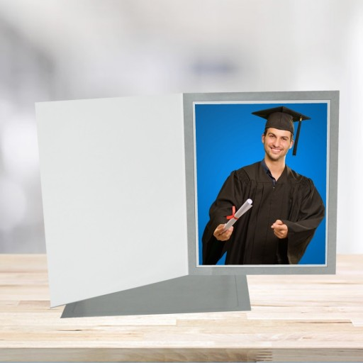 7x5 Horizontal Basic Gray Photo Folders 2