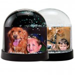 Snow Globes Horizontal Clear and Black