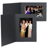 7x5 Imperial Black Photo Folder - 25 Pack