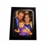 Black Cardboard Photo Easel Frame | Uptown Style | Size 5x7 Photo