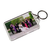 "1-3/4"" x 2-3/4"" Clear Acrylic Photo Key Chains"