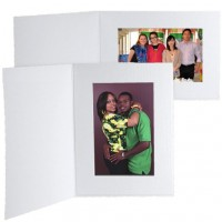 7x5 Imperial White Photo Folder - 25 Pack