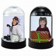 Snow Globes Vertical Clear and Black